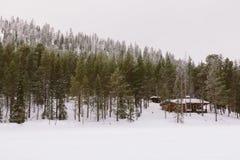 Kabina w Lesie Zdjęcia Royalty Free
