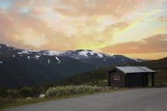 Kabina w Norweskim parku narodowym Obraz Royalty Free