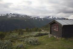 Kabina w Norweskim parku narodowym Obraz Stock