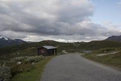 Kabina w Norweskim parku narodowym Obrazy Stock
