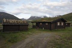 Kabina w Norweskim parku narodowym Obrazy Royalty Free