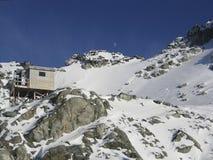 Kabine an Blackcomb Spitze, Britisch-Columbia Stockbilder