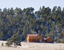 Kabine in den Hügeln Stockfotografie