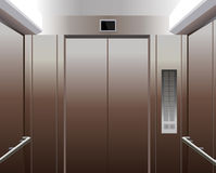 Kabine des Aufzugs mit Tasten stock abbildung
