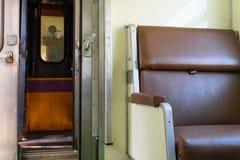 Kabine des thailändischen Zugs Lizenzfreies Stockfoto