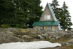 Kabine im Berg Lizenzfreies Stockbild