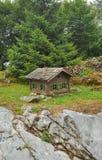 Kabine im Holz Stockfotos