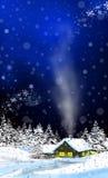 Kabine im Schnee Stockfoto