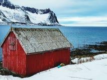 Kabine in Norwegen stockbild