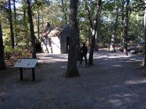 Kabine von Henry David Thoreau nahe Walden Pond, ?bereinstimmung, Massachusetts, USA lizenzfreies stockfoto