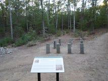 Kabine von Henry David Thoreau nahe Walden Pond, ?bereinstimmung, Massachusetts, USA stockbilder