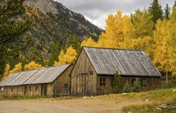 Kabinen in Aspen stockfoto