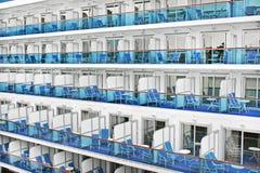 Kabinen eines modernen Kreuzschiffs Stockfotografie