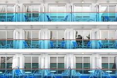 Kabinen eines modernen Kreuzschiffs Stockfotos