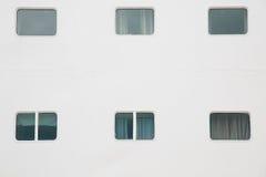 Kabinenfenster des Kreuzschiffs Lizenzfreies Stockfoto