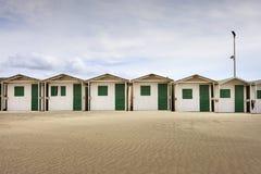 Kabiner på stranden, Ostia Royaltyfria Bilder