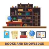 Kabinet en bibliotheek royalty-vrije illustratie
