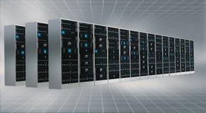 Kabinett för internetmolnserver Arkivbilder