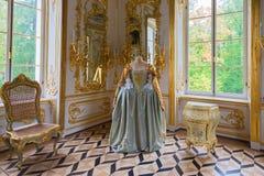 Kabinett i eremitboningpaviljongen i Catherine Park, Tsarskoye S arkivfoto