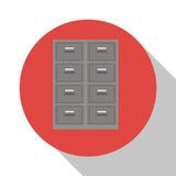 Kabinett mappdokumentkontor med skugga royaltyfri illustrationer