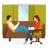 Kabinett psykologVector illustration Arkivbilder