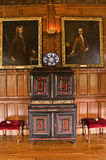 Kabinett rum för Lanhydrock galleri Royaltyfri Fotografi