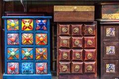 Kabinett skärm för handgjorda kryddor Royaltyfri Fotografi