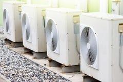 Kabinetten met airconditioning stock afbeelding