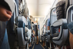 Kabinowa nawa w samolocie zdjęcie stock