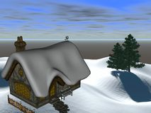 kabinowa zima Obraz Royalty Free