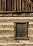 kabinowy nieociosany okno Zdjęcie Royalty Free