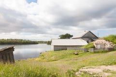 Kabinreträtt på sjön Royaltyfri Fotografi