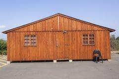 kabiny śnieżny drzew zima drewno Zdjęcia Stock