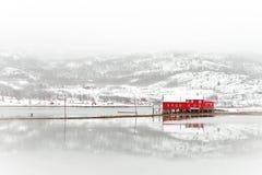 kabiny brzegowy rybaka scandinavian Zdjęcia Royalty Free