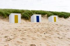 Kabiny na plaży Fotografia Royalty Free