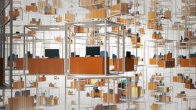 kabiny puste biura zdjęcie wideo