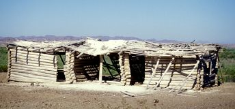 kabiny pustyni bela Zdjęcia Royalty Free