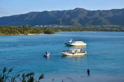 Kabira海湾,热带盐水湖 免版税库存照片
