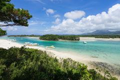 Kabira Bay in Ishigaki Island, Okinawa Japan. Kabira Bay, one of the most famous beautiful beach in Japan, is located on the north coast of Ishigaki Island in Royalty Free Stock Photo