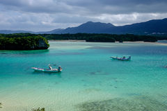 Kabira Bay in Ishigaki. Japan Royalty Free Stock Photo