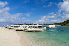 Kabira zatoka w Ishigaki wyspie, Okinawa Japonia Obrazy Stock
