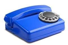 Kabla naziemnego czerwony telefon na odosobnionym tle z cieniem Obraz Stock