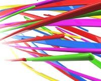 kablar 3d isolerade mångfärgat Royaltyfria Foton