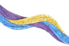 Kablar av telekommunikationnätverket Royaltyfria Foton