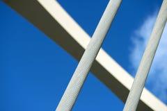 Kablar för Alsea fjärdbro två Arkivfoto