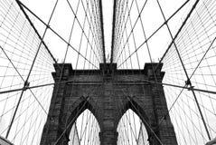 Kablar för Brooklyn bro Arkivbilder