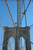 Kablar för Brooklyn upphängningbro Royaltyfri Bild