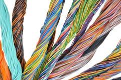 Kablar för nätverksdator, abstrakt överföring i telekommunikationsystem Royaltyfria Bilder