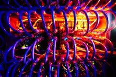 Kablar för optisk fiber Arkivbild