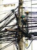 kable telefoniczne chaotyczne Zdjęcia Royalty Free